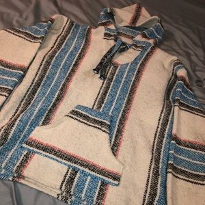 Jackets & Blazers - Baja hoodie, Drug rug, white and blue